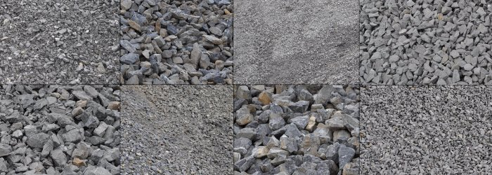various types of aggregates