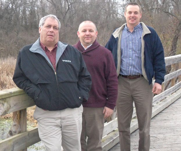 letort regional authority and union quarries leaders on bridge