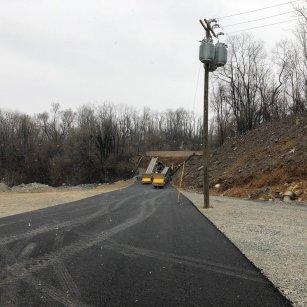 asphalt paving on a crushing plant