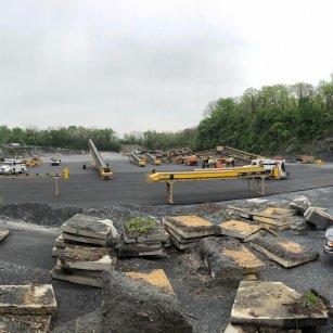 equipment at Union Quarries crushing plant