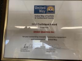 united way of carlisle & cumberland county 2018 trailblazer award